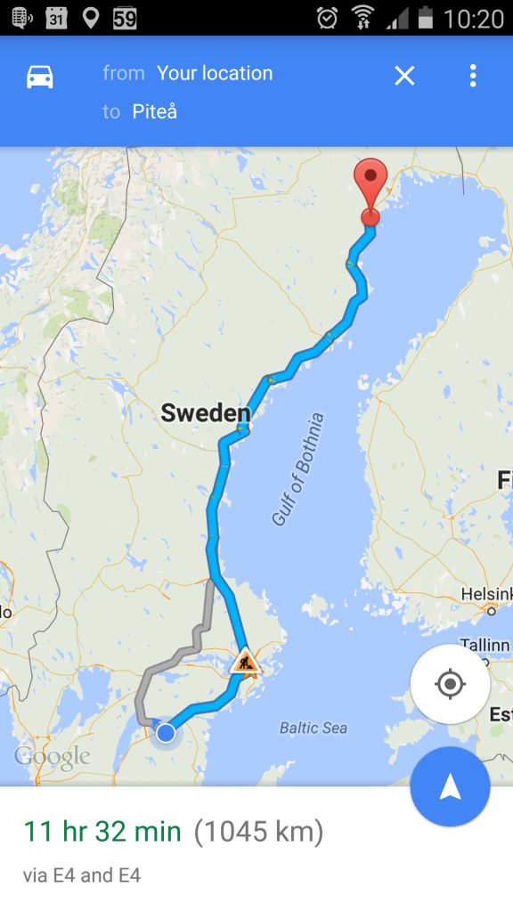 now far north - this far north